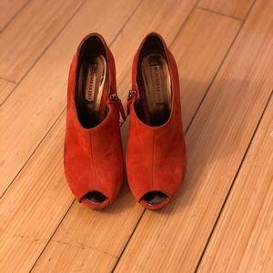 BCBGMaxAzria orange heels
